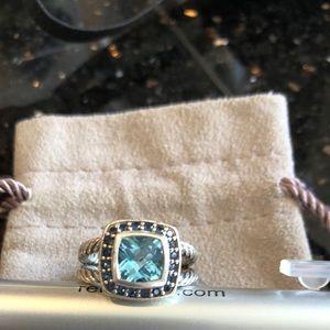 David Yurman blue topaz ring size 5